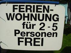 FEWO frei für 2 bis 5 Personen